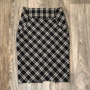 Plaid Express Pencil Skirt